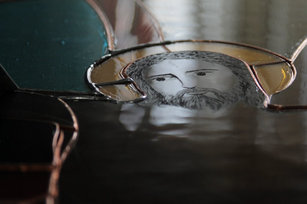 Stained glass window - Christ's face